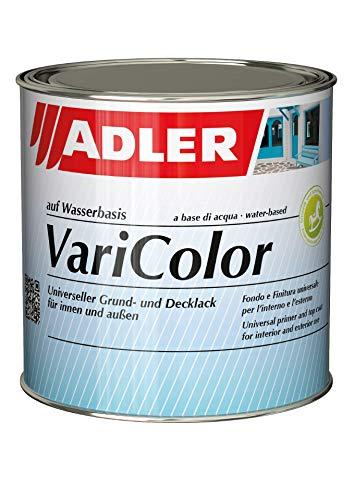 ADLER Varicolor 2in1 Acryl Buntlack für Innen und Außen - Wetterfester Lack und Grundierung für Holz, Metall & Kunststoff - Seidenmatt (750 ml, RAL9016 Verkehrsweiß)