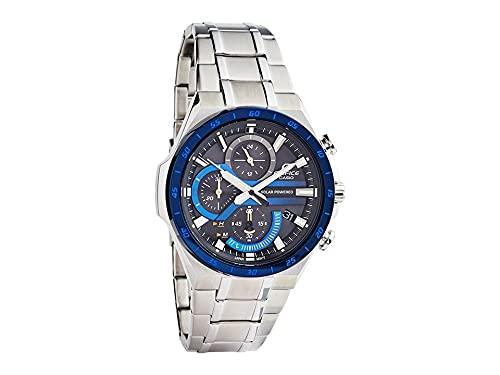 Casio Edifice Casio EQS-920DB-2AV Reloj de pulsera solar azul y plateado para hombre