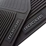 cargo mats for nissan rogue - Nissan Floor Mats Rogue OEM Genuine - All Weather - Heavy Duty - (2014,2015,2016,2017,2018, 2019, 2020) Complete Set (Black) - TheCustomCarMat