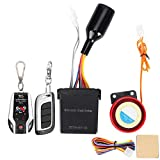 2 Way Motorcycle Security Kit Alarm System Anti Theft Security System Anti-Hijacking System Cutting Off Remote Engine Start Arming Disarming with Double Remote Control 12v Universal