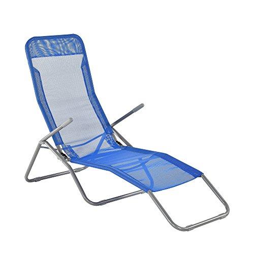 ® transat transat 190 cm gris foncé avec pare-soleil de Jardin Chaise Chaise de plage Casa. Pro