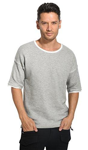 Black Kaviar - SATUMA - T-Shirt - grau BK48277G - L, Grau