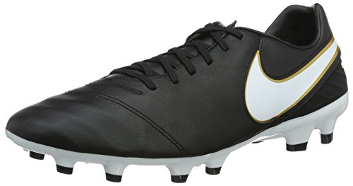 Nike Herren Tiempo Mystic V FG Fußballschuhe, Schwarz (Black/White), 42.5 EU
