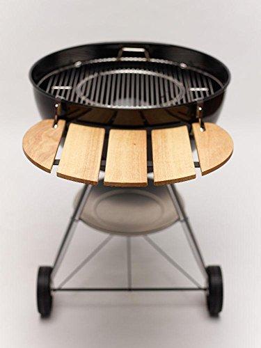 Mesa lateral profesional de bambú apta para todas las barbacoas esféricas de 57 cm.