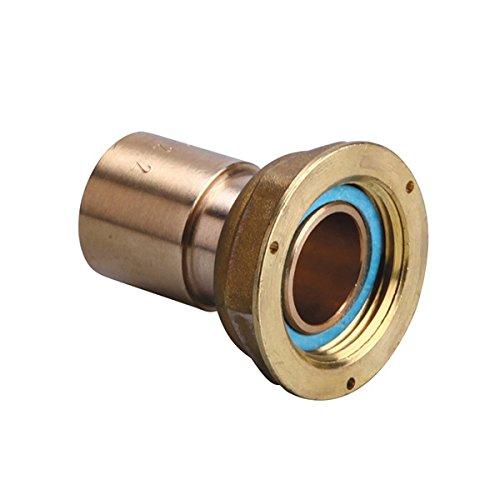 Gurtner - Raccord gaz naturel - Raccord 2 pièces compteur gaz à braser sur cuivre - écrou 6/20 - cuivre Ø28