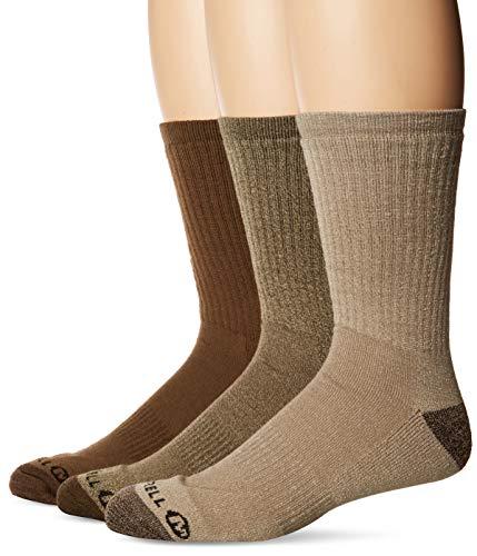 Merrell Men's 3 Pack Cushioned Performance Hiker Socks (Low/Quarter/Crew Socks), Olive (Crew), Shoe...
