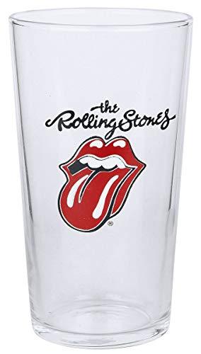 The Rolling Stones Tongue Vaso de cerveza transparente