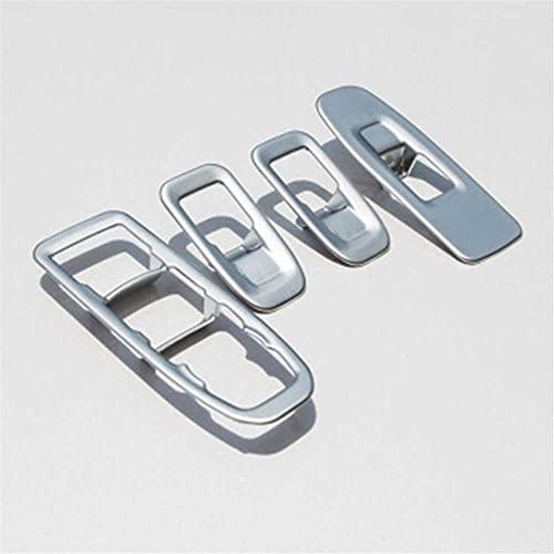 SAXTZDS Accesorios de Coche ABS Cubierta de Panel de Interruptor de Control de elevación de Vidrio de Puerta cromada, Apto para Cadillac XT5 2016 17 18 19 2020