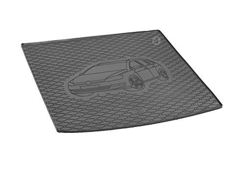 Passgenau Kofferraumwanne geeignet für VW Golf 7 Variant/Kombi ab 2013 ideal angepasst schwarz Kofferraummatte + Gurtschoner