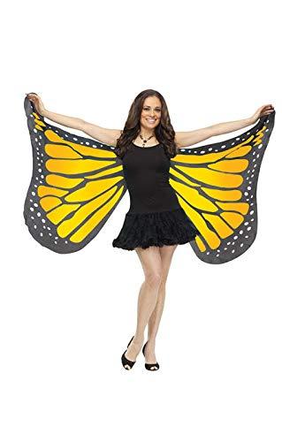 ailes de papillon énormes jaune