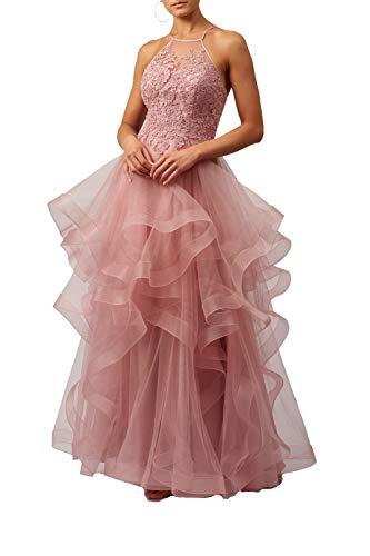 Mascara Rose rosa mc110926 gestufte Tüll Netz Kleid