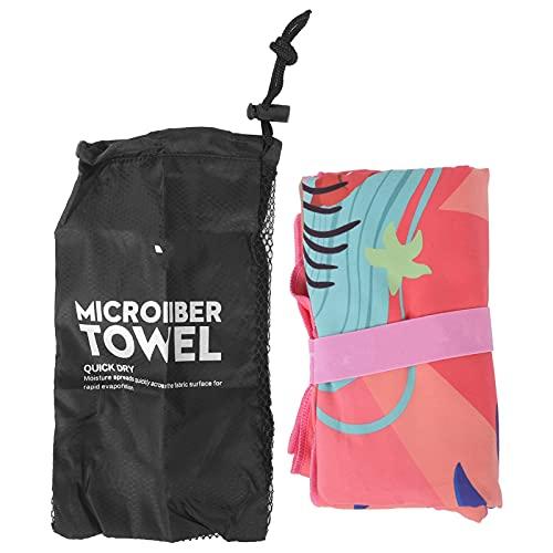 Bay Beach Towel, kompaktes, leichtes Bade- und Reisehandtuch mit intelligentem UV-Detektor für Reisen, Schwimmen, Camping, Urlaub(TS04053137-Meerjungfrau-Prinzessin)