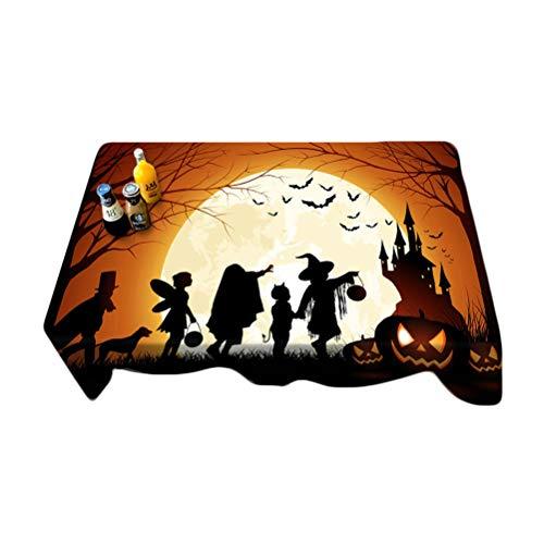 VORCOOL Nappe de Halloween Polyester Étanche à la poussière Couvercle de Table pour Cuisine Dinning décor de Table de Table (Rectangle, 27,5 x 59 Pouces)
