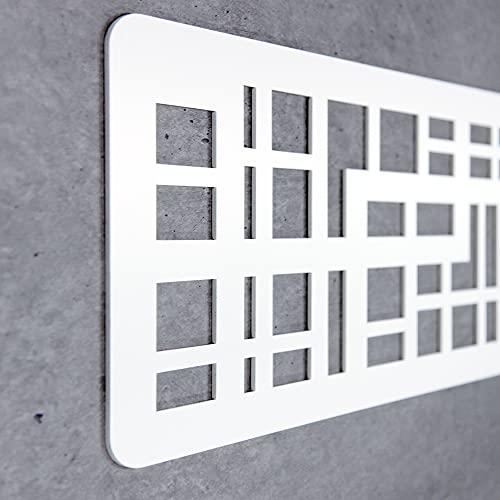 Cabecero Cama Decorativo Económico en PVC - Tipo Forja. Modelo - Portugal (150cm x 60cm, Blanco)