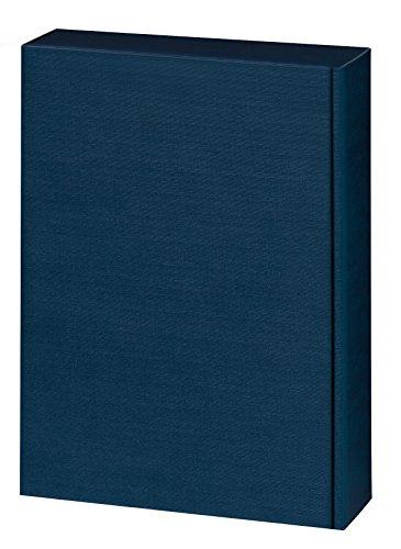 5 Stück Set! Edler Weingeschenkkarton 3er Blau Leinenoptik Design, edle Wein Geschenkverpackung für drei Weinflaschen, mit Leinen Struktur, einfarbig. Exklusiver Präsentkarton für Ihr Weingeschenk