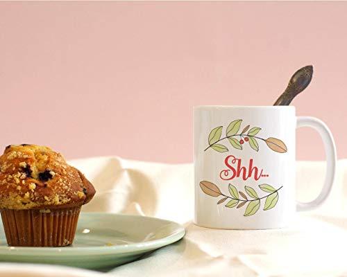 Promini Dekorative Tasse Shh Kaffee-Tasse Frieden Und Ruhe Lassen Sie Mich Allein Geschenk-Tasse Lustige Tasse 15oz WeißE Tasse