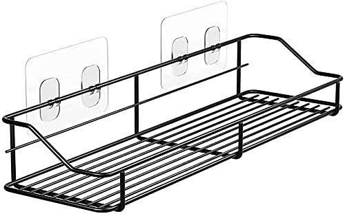 Oriware Estanteria Ducha Adhesivos Organizador Estantes Cesta para Ducha Baño Acero Inoxidable -Sin Taladro (Negro)