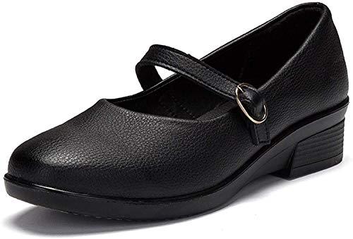 [Nomioce] レディースシューズ ナースシューズ レディース安全靴 パンプス ウォーキングシューズ 通勤 モカシン 軽量 疲れにくい 長時間立ち仕事 大きいサイズ 履きやすい (23.5cm, 黒2)