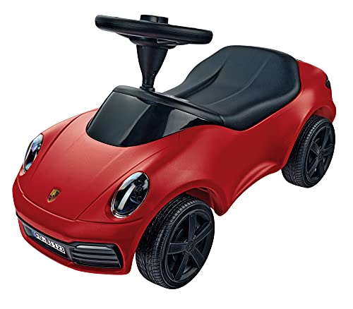 BIG Spielwarenfabrik 800056353 Big-Baby 911 Design di Porsche Design Studios, con ruote larghe e volanti antiscivolo, per bambini dai 18 mesi in su, rosso