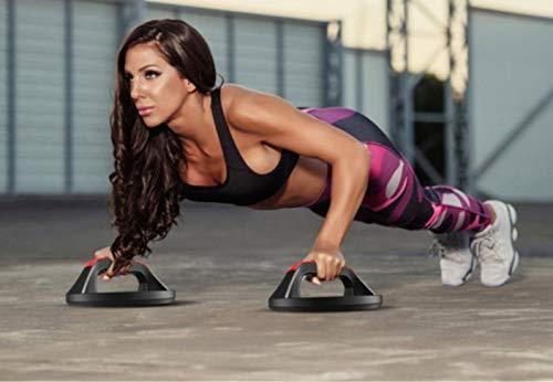 ML Support de poignées pour flexions rotatives en Forme de Disque pour Faire de l'exercice Musculaire Fitness - haltères de Gymnastique à la Maison Bras de Poitrine abdominaux