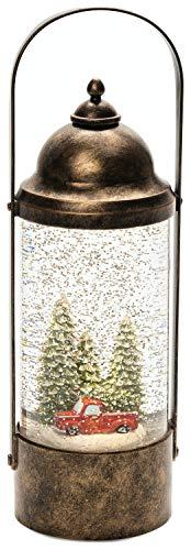 Konstsmide Laterne: LKW und Weihnachtsbäume, mit Wasser gefüllt, Batterie und Timer
