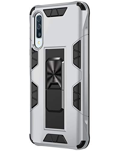 SharSon - Funda protectora para Samsung Galaxy A50 (función atril, antigolpes) Beige plata