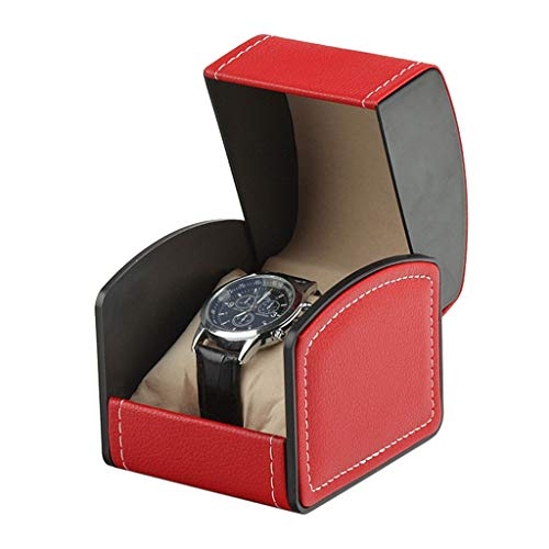 Joyero Caja De Joyería para Hombres Reloj De Viaje Caja Single Slot Watch Reloj Caja De Joyería De Viaje Caja De Almacenamiento Joyería Regalo de joyería (Color : Watch Box B)