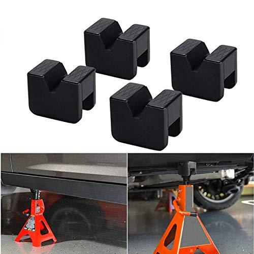 (4 Stück) Wagenheber Gummiauflage 60×50×44mm Universal wagenheber auflage Jack Pad für Schützt Ihren PKW und SUV | Stehen Gummiauflage