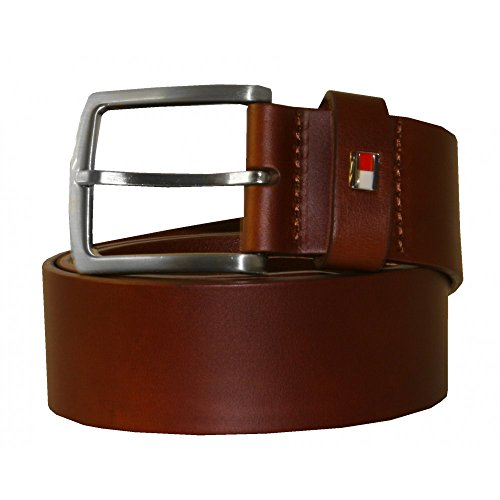 Tommy Hilfiger New Denton Leather Men's Belt, Tan Brown Small