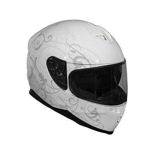 BiLT Force Eternity Women's Motorcycle Helmet, White/Grey, M