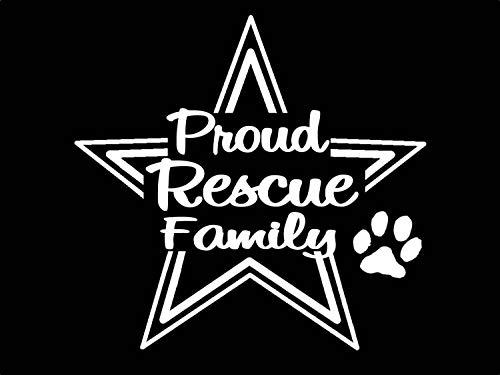 Celycasy Stolz-Rettungsfamilie-Aufkleber für Retter Rasse Haustier Adopt Hund Katze Kätzchen Tierschutz für Auto LKW SUV VAN Fenster Halsband