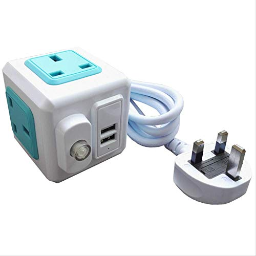 Regleta de enchufes ATNEETcon interruptor Toma de extensión eléctrica con fusible Toma...