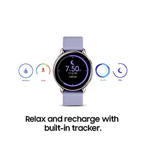 SAMSUNG Galaxy Watch Active 2 (40mm, GPS, Bluetooth) Smart Watch with Advanced Health Monitoring, Fitness Tracking, and Long Lasting Battery - Rose Gold (US Version)
