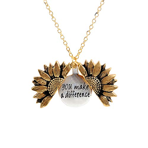 Heartwarming Engraved You make a Difference Necklace