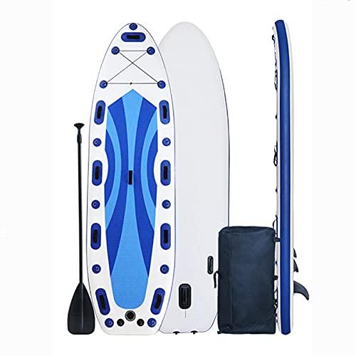 MXSXN Tabla De Stand Up Paddle Surf Inflable De 11'X39 X7.8, Tabla Grande De Primera Calidad para Pesca, Yoga, Kayak Y Surf, Incluidos Todos Los Accesorios