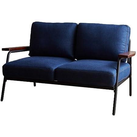 家具350 ソファ ソファー 2人掛けソファ 2人掛けソファー 2人掛け 2P 二人掛け デニムブルー 118001