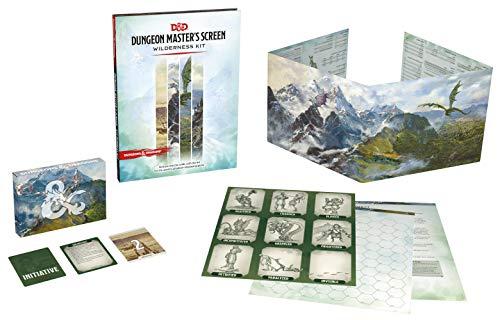 Dungeons & Dragons Wilderness Kit (écran de maître du donjon + accessoires) – Version Anglaise