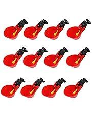Bebedero de riego de pollo, bebedor automático de plástico rojo, regador para aves de ganado, gallina, pato, codorniz 12 piezas