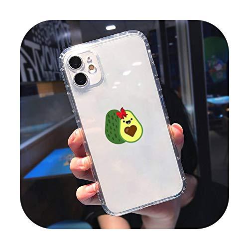 Caja transparente para iPhone 11 12 mini pro XS MAX 8 7 6 6S Plus X 5S SE 2020 XR-a5-iPhone11PROMAX