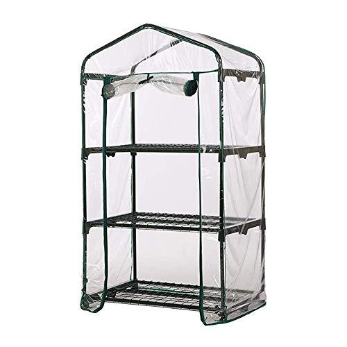 genral Invernadero de 3 niveles con puerta enrollable con cremallera, para jardín, jardín, plantas de semillero, refugio portátil impermeable