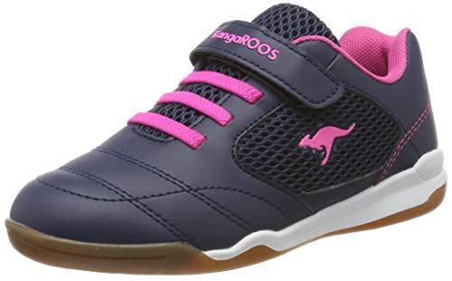 KangaROOS Incourt EV Unisex-Kinder Sneaker, Blau (Dark Navy/Daisy Pink 4204), 34 EU