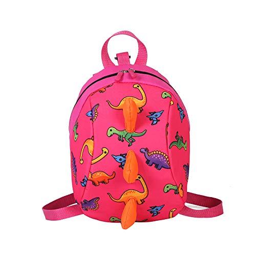 Kids Toddlers Jurassic World Dinosaur Kids Backpack Lightweight Children's Nursery School Bag for Toddler Kindergarten Preschool Boys Girls (Pink)
