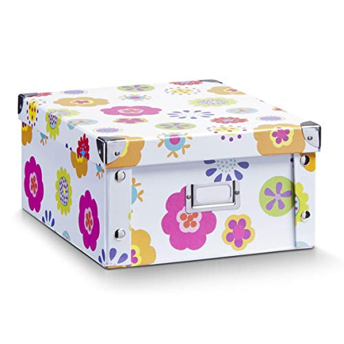 Zeller 17852 Boite de rangement en carton pour enfants, 31 x 26 x 14 cm