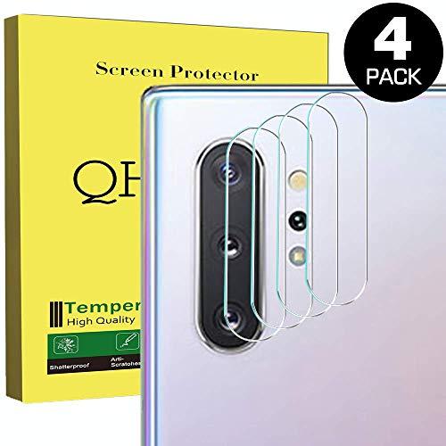 QHOHQ Kamera Panzerglas für Samsung Galaxy Note 10/Note 10 Plus, [4 Stück] Ultradünnes HD Anti-Kratzer Panzerglas Schutzfolie