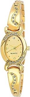 Cloudwood Analog Bangle Gold Dial Luxury Fashion Bracelet Watch for Women & Girls -W158