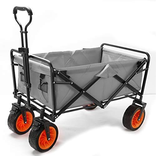 QILIN Carro Plegable, Camioneta Multiusos Plegable, Autocaravana Compacta para Jardín Al Aire Libre, Soporte Máximo 75 Kg, Convencional