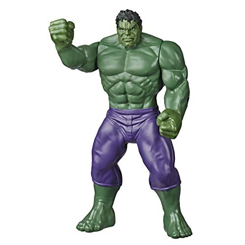 Marvel Hulk Toy 9.5-inch Scale Collectible Super Hero Action Figure, Toys for Kids Ages 4 and Up
