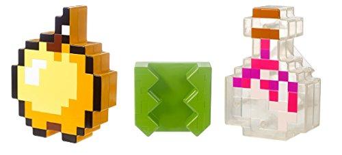 Minecraft Mattel FLV76 Clip mit Zaubertrank und goldenem Apfel-Sammlerstück Spielzeug
