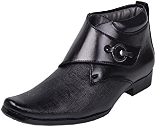 AADI Men's Black Synthetic Anklet Boots