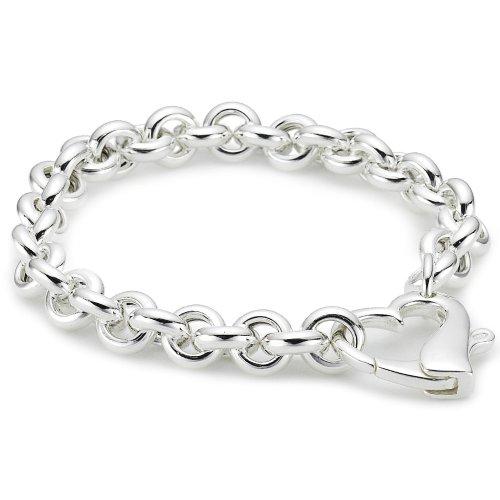 Vinani Armband Herz Herzverschluss 19,5 cm Sterling Silber 925 AHSS